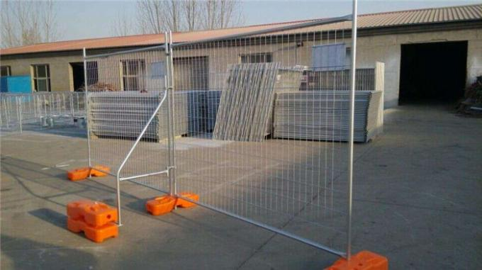 temporary fence panel installed with bracing