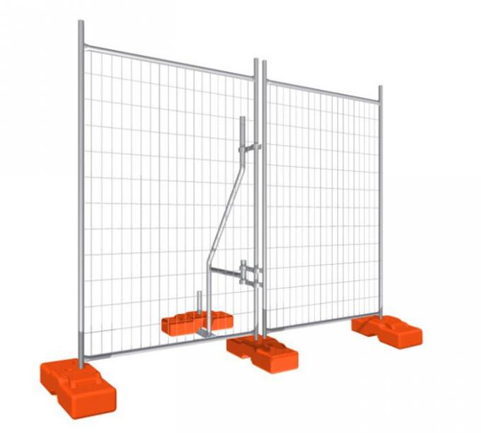 temporary fence with brace