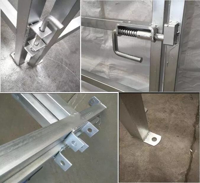 horse fence panels lugs, pins, hinges and steelplate