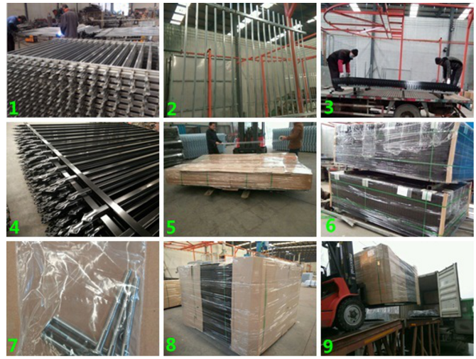 Galvanized Steel Picket Fence Used in industrial buildings and military bases