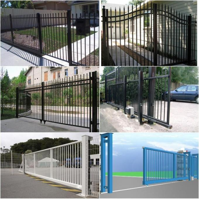 powder coated steel fence application