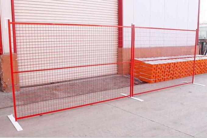 Portable Mobile Metal Canada Temporary Fence For Outdoor Events / Parking Lots