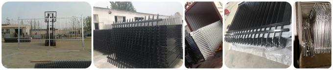 Multi Function Strong Iron Steel Picket Fence , PVC Coated Metal Picket Fence