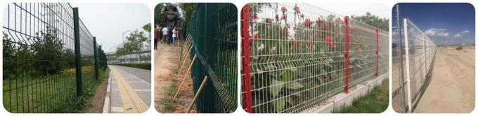 Curved Heavy Duty Welded Wire Fence For Airports / Terminals Security Easy Install