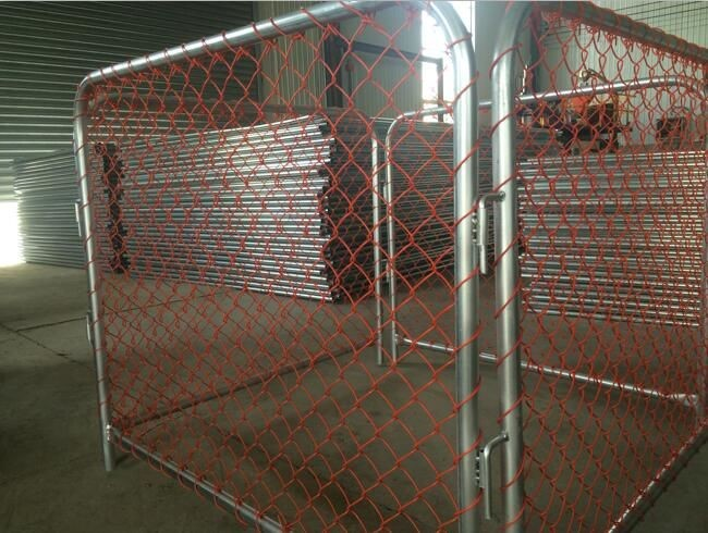 Chain Link Mesh Temporary Construction Fence Panels Low Carbon Steel Material